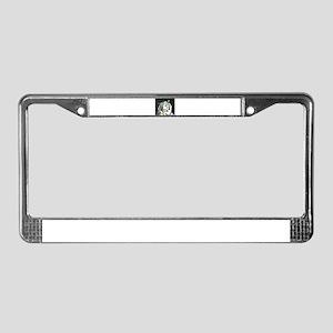tiger back lit License Plate Frame