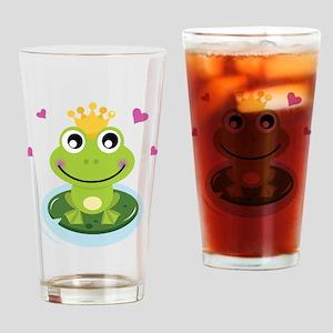 Frog Princess Drinking Glass