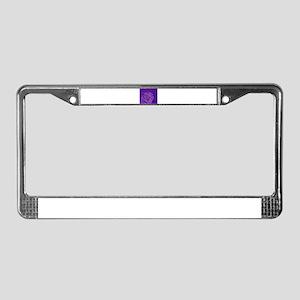 tiger blue License Plate Frame