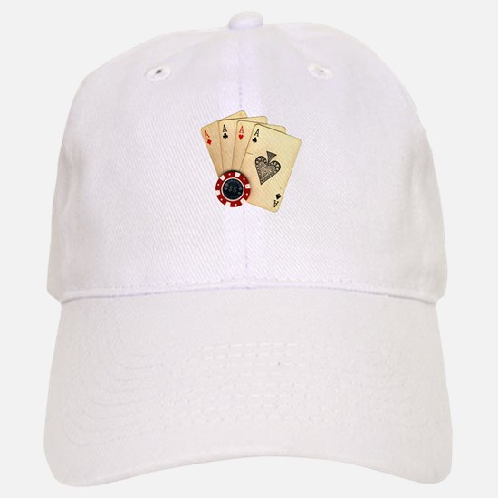 Poker - 4 Aces Baseball Baseball Baseball Cap