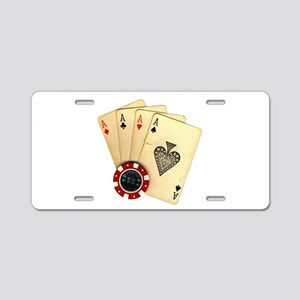 Poker - 4 Aces Aluminum License Plate