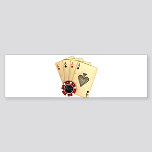 Poker - 4 Aces Bumper Sticker