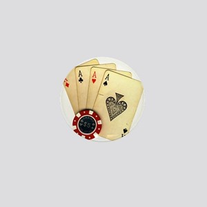 Poker - 4 Aces Mini Button