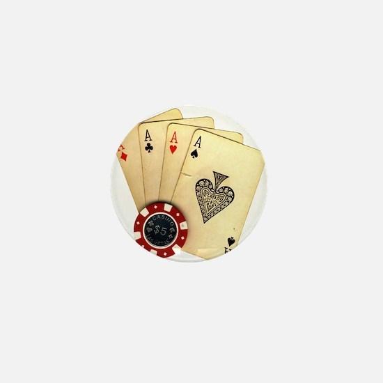 Poker - 4 Aces Mini Button