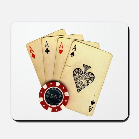 Poker - 4 Aces Mousepad