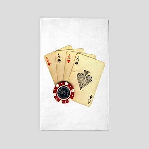 Poker - 4 Aces 3'x5' Area Rug