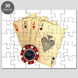 Poker - 4 Aces Puzzle