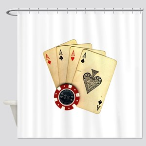 Poker - 4 Aces Shower Curtain