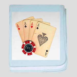 Poker - 4 Aces baby blanket