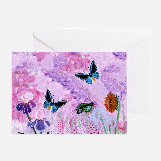 One Card Birdwing On African Lily Greeting Cards