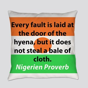 Every Fault Is Laid Everyday Pillow