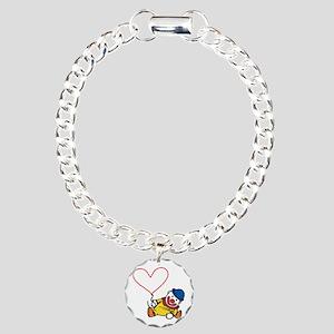 Clown Heart Caption Bracelet