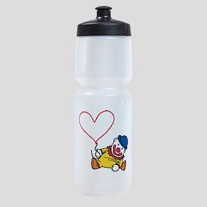 Clown Heart Caption Sports Bottle