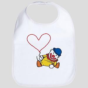 Clown Heart Caption Bib