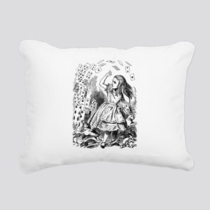 Alice Flying Cards 2 Rectangular Canvas Pillow