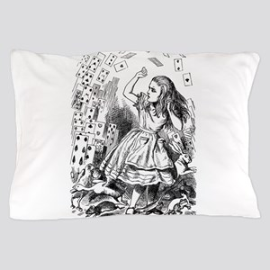Alice Flying Cards 2 Pillow Case