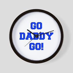 GO-DADDY-GO-FRESH-BLUE Wall Clock