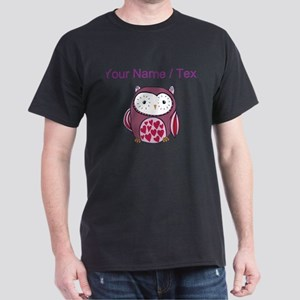Custom Purple Love Owl T-Shirt