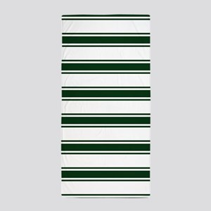 Forest Green and White Stripes; Striped Beach Towe