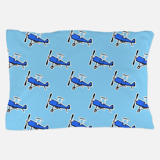 Blue Prop Biplane; Small Plane, Airplane Pattern P