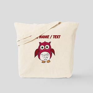 Custom Red Cartoon Owl Tote Bag