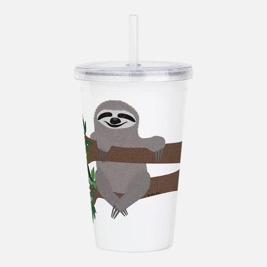 Sloth Acrylic Double-Wall Tumbler