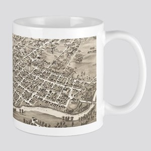 Vintage Pictorial Map of Muncie Indiana (1884 Mugs