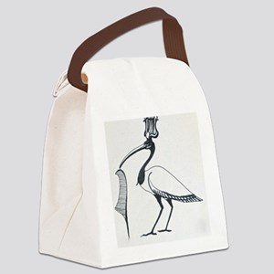 Egyptian Ibis Canvas Lunch Bag