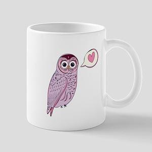 Purple Love Owl Mugs