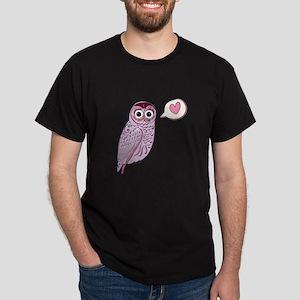 Purple Love Owl T-Shirt
