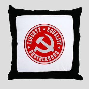 LIBERTY EQUALITY BROTHERHOOD Throw Pillow