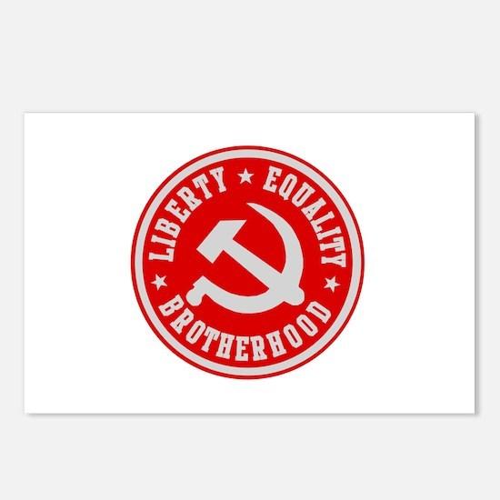 LIBERTY EQUALITY BROTHERHOOD Postcards (Package of