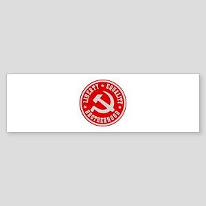 LIBERTY EQUALITY BROTHERHOOD Bumper Sticker