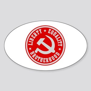 LIBERTY EQUALITY BROTHERHOOD Oval Sticker