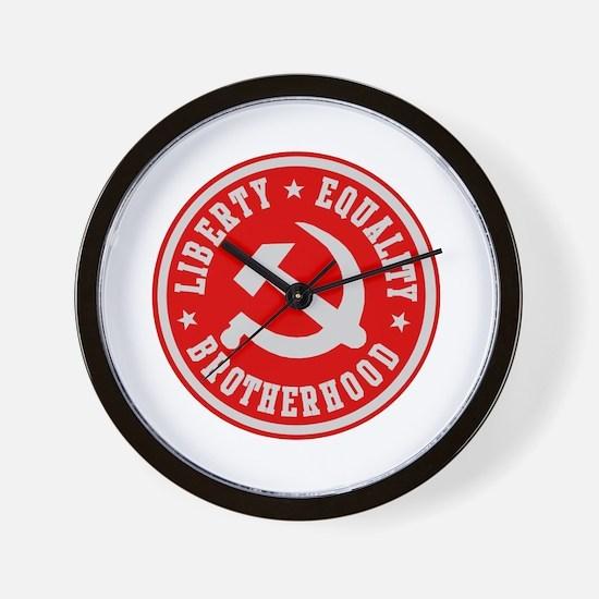 LIBERTY EQUALITY BROTHERHOOD Wall Clock