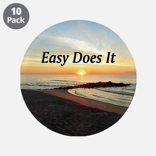 "EASY DOES IT 3.5"" Button (10 pack)"