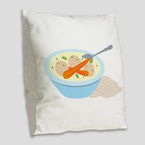 Matzah Balls Burlap Throw Pillow