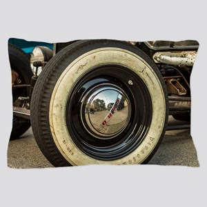 Whitewalls On Ford Hot Rod Pillow Case