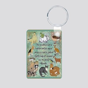 Animals Aluminum Photo Keychain Keychains