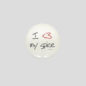 I love my spice (red heart fu Mini Button
