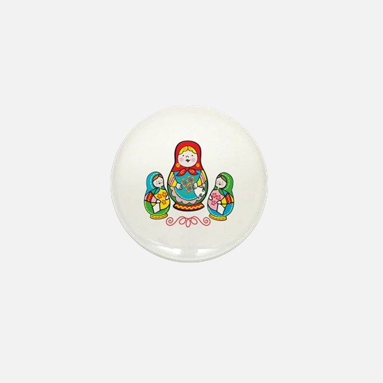 Russian Matryoshka Mini Button