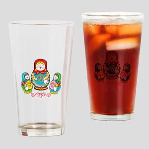Russian Matryoshka Drinking Glass
