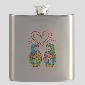 Love Nesting Dolls Flask