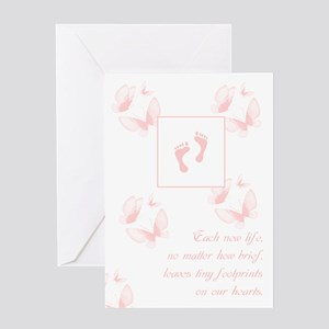 Loss Of Female Child Sympathy Card Greeting Cards