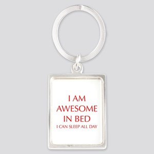 i-am-awesome-in-bed-OPT-RED Keychains