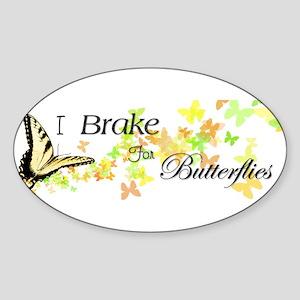 I Brake for Butterflies Sticker