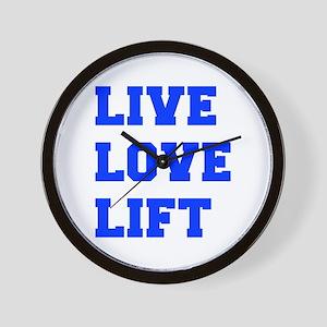 LIVE-LOVE-LIFT-FRESH-BLUE Wall Clock