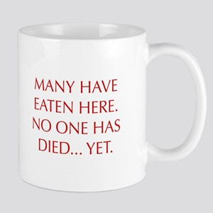 MANY-HAVE-EATEN-HERE-OPT-RED Mugs