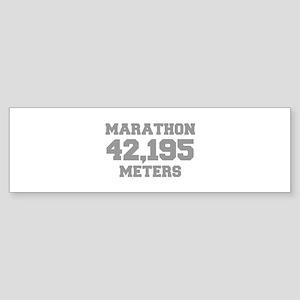 MARATHON-42195-METERS-FRESH-GRAY Bumper Sticker