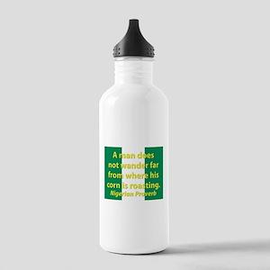 A Man Does Not Wander Far Water Bottle
